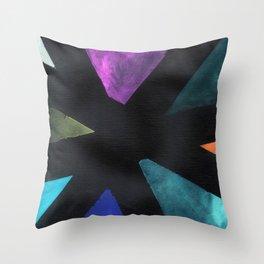 Intersection Triangles / Dennis Weber / ShreddyStudio Throw Pillow