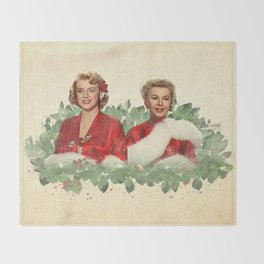 Sisters - A Merry White Christmas Throw Blanket