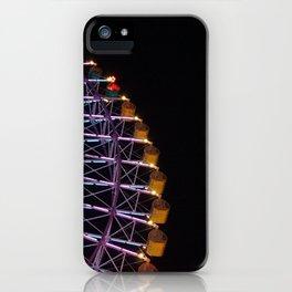 ferris wheel (night) iPhone Case
