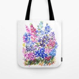 Blue Delphinium Garden Tote Bag