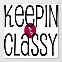 classy Canvas Prints featuring Classy by Bunhugger Design