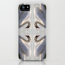 one swan a swimming iPhone Case