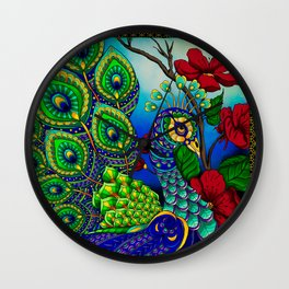 Peacock ZIA Wall Clock