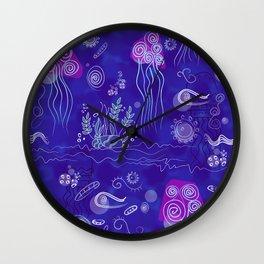 Jellyfish in the sea Wall Clock