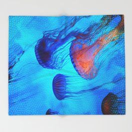 Watch the Flow of the Jelly Glow  Throw Blanket