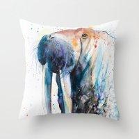 walrus Throw Pillows featuring Walrus by Slaveika Aladjova