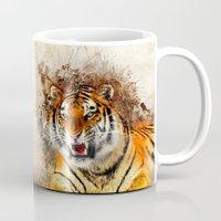 fierce Mugs featuring Fierce by Robin Curtiss