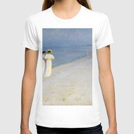 12,000pixel-500dpi - Peder Severin Kroyer - Summer Evening On The Souther Beach T-shirt