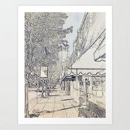 Broad Street Camden, SC Art Print