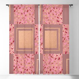 RoseGold: Animal Print Quilt III Blackout Curtain