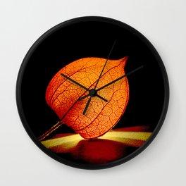 Lampionflower Wall Clock
