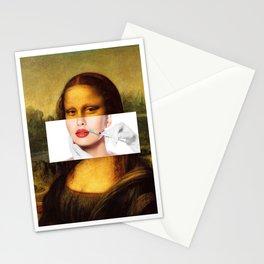 Mona Lisa Lip Injctions Stationery Cards