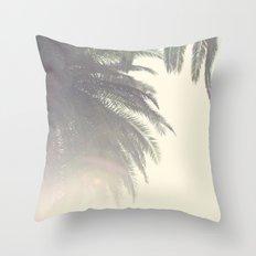 Sunset Palm Tree Throw Pillow