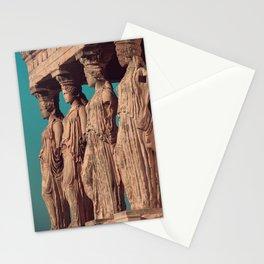 Caryatids of the Erectheum, ancient greek, Agora of Athens, Erectheum, Greece photography, Athens Acropolis Stationery Cards