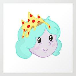 Pizza Princess Art Print