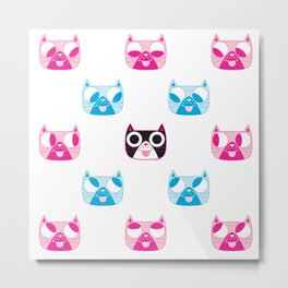 We are watching you. MEOW x 5 Metal Print