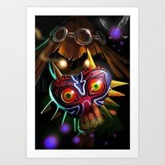 Majoras Mask Art Print