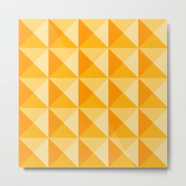 Geometric Prism in Sunshine Yellow Metal Print