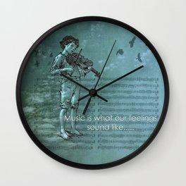 Music and Feelings Wall Clock