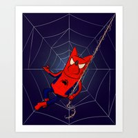 Does Whatever A Spider Can Art Print