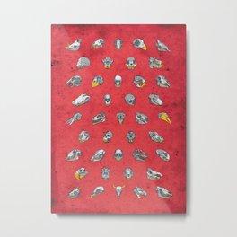 No. 41 - Skulls - Red Variant Metal Print