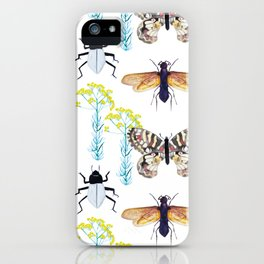 Watercolor Insects iPhone Case