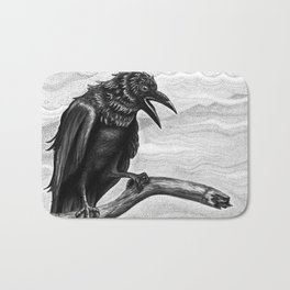 Raven in the Mist Bath Mat