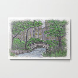 Central Park Bridge NYC Metal Print