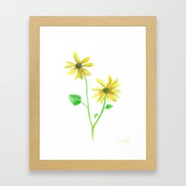 Simple Sunflower Framed Art Print