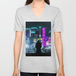 Cyber City Unisex V-Neck