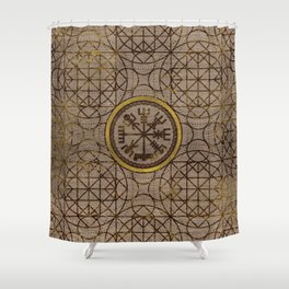 The Magic Navigation Viking Compass Shower Curtain