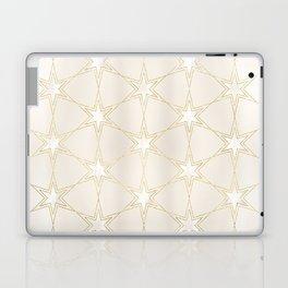 Celestial Pearl Gilded Stars Laptop & iPad Skin
