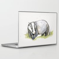 badger Laptop & iPad Skins featuring MR Badger by Lynette Sherrard Illustration and Design