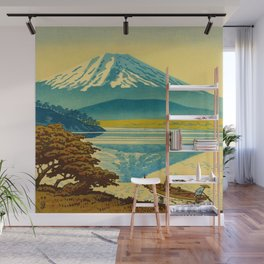 Japanese Woodblock Print Vintage Asian Art Colorful woodblock prints Asano Takeji Lake Shojin Wall Mural