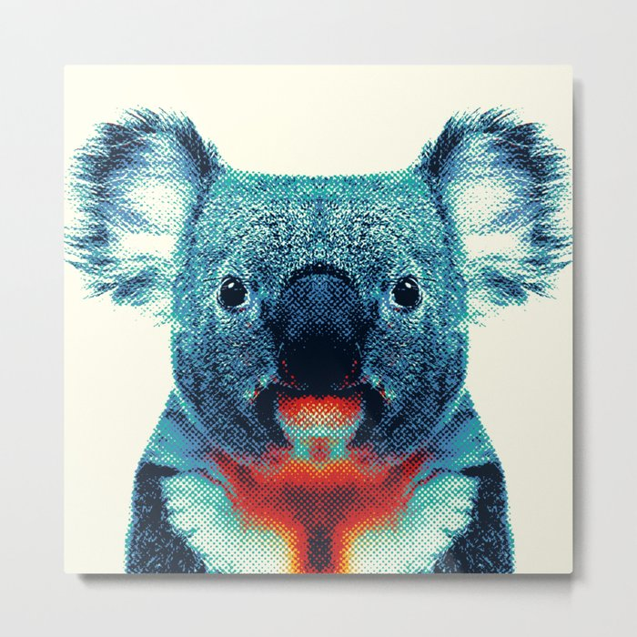 Koala - Colorful Animals Metal Print