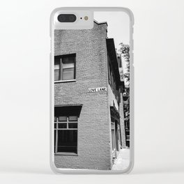 Love Lane Clear iPhone Case
