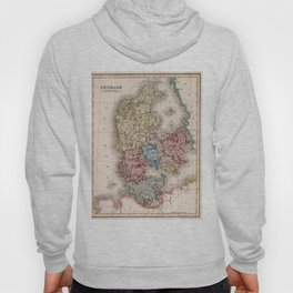 Vintage Map of Denmark (1838) Hoody