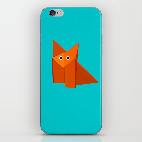 Cute Origami Fox iPhone & iPod Skin