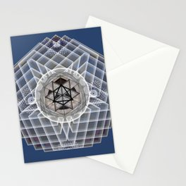 Merkaba Crown Chakra Meditation Mandala Stationery Cards