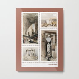 David Roberts - Sheet of stamps by Postmaster (Issue 20-001) Metal Print