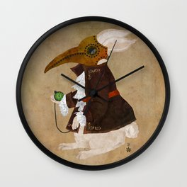 'Postapocalyptic' style White Rabbit (Alice in Wonderland) Wall Clock