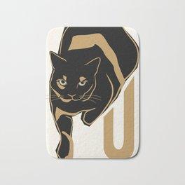 U is for Unix (Portrait of a Tortoiseshell Cat) Bath Mat