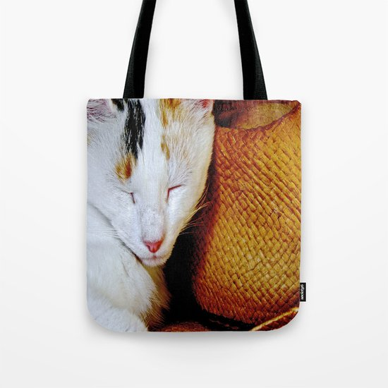 The Cowboy's Cat Tote Bag