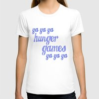 lorde T-shirts featuring Ya Ya Ya Hunger Ya Ya Ya Games - Blue by Hrern1313