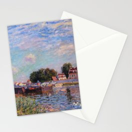 The Canal at Saint-Mammes Stationery Cards