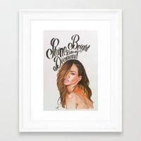 rihanna Framed Art Prints featuring Rihanna by hippiedreamer