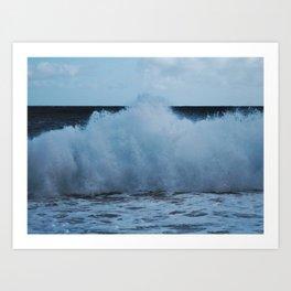 November Waves Art Print