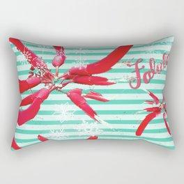 Falalalala Flower Rectangular Pillow