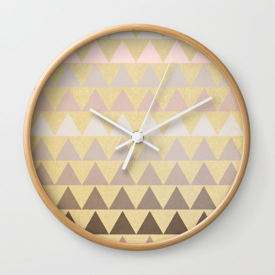Muted Triangles Wall Clock