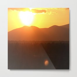 Steamboat Sunrise Metal Print